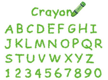 Ilustración de fuente de crayón. Foto de archivo - 85536804