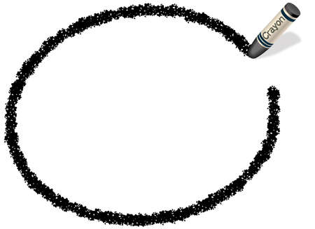 Un marco elipsoidal negro dibujado con un lápiz de color. Foto de archivo - 85536693