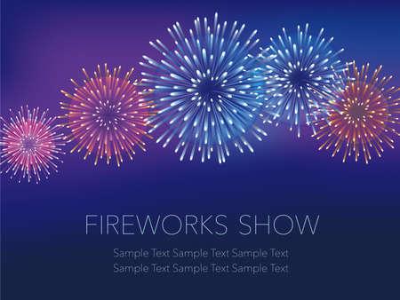 A vector fireworks background illustration. Illustration