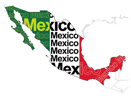 Map of Mexico icon.