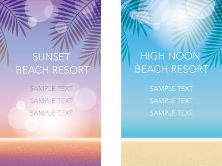 A set of two summer banner