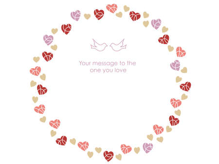 A vector message frame for Valentine's Day, birthdays, Mother's Day, etc.