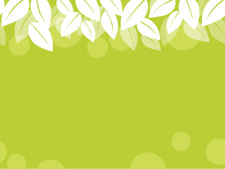 A seamless leaf background vector illustration with text space. Horizontally repeatable. Illustration