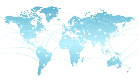 Seamless map of the global network system, vector illustration. Vectores