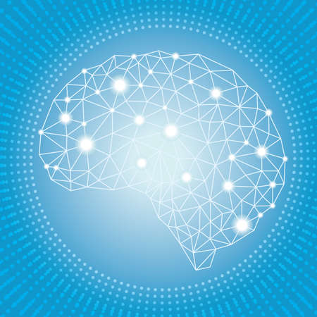 Artificial Intelligence concept design Stock Illustratie