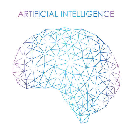 Koncepcja sztucznej inteligencji, ilustracji wektorowych.