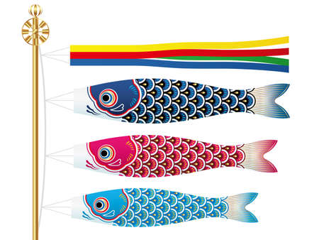 Carp streamers Stock Illustratie