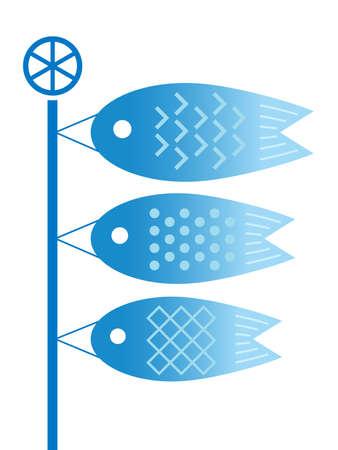 Carp streamers Illustration