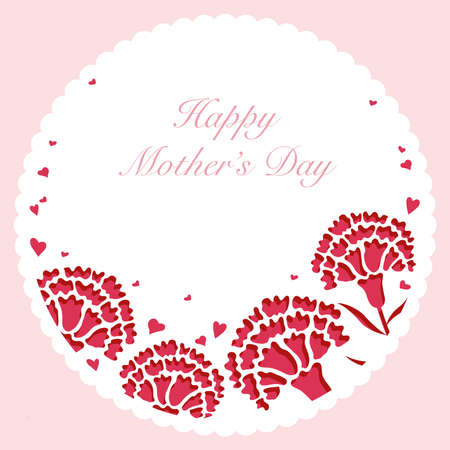 Mother's Day card template design Vettoriali