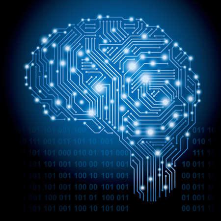 Artificial Intelligence concept, vector illustration.