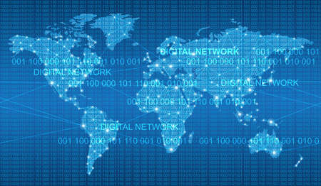 A Seamless map of the global network system, vector illustration