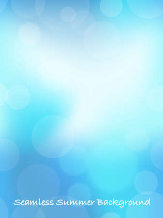Abstract summertime seamless background, vector illustration. Horizontally and vertically repeatable.