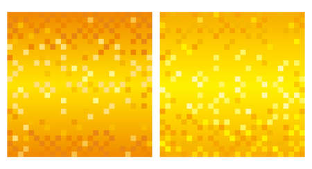 Set of square abstract backgrounds with polygon texture, vector illustration. (Without sample text)