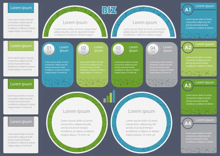 Set of assorted inforgraphic templates, vector illustration.