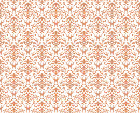 Damask vintage seamless patterns, vector illustration. Horizontally and vertically repeatable.