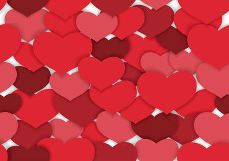 Valentine's Day seamless vector background illustration. Horizontally and vertically repeatable. Иллюстрация