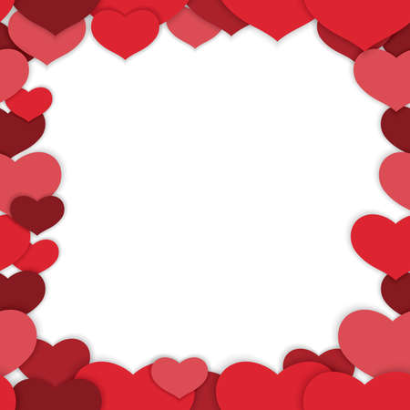 Valentine's Day seamless vector frame illustration. Horizontally and vertically repeatable.