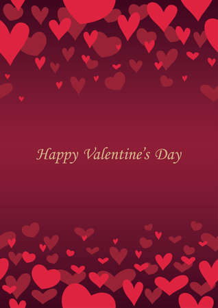 Valentine's Day abstract seamless background, vector illustration. Horizontally and vertically repeatable.