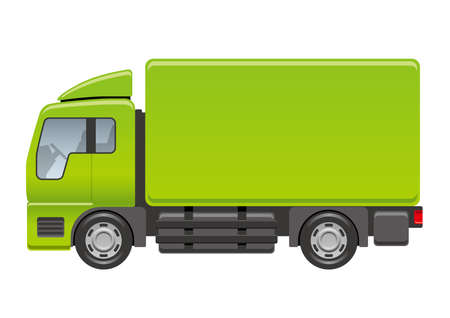 Vector truck illustration on a white background.
