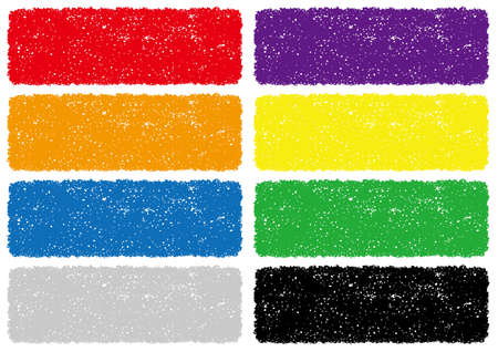 Set of crayon texture backgrounds, vector illustration.