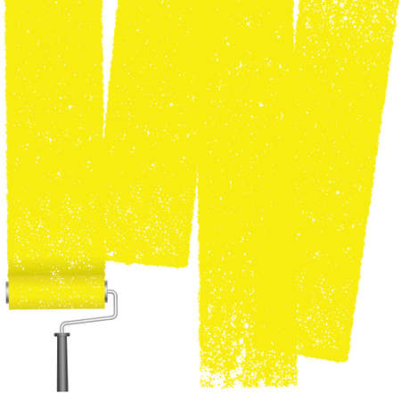 Paint roller abstract background isolated on a white background. Vector illustration.