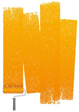 Rouleau de peinture abstrait isolé sur fond blanc. Illustration vectorielle. Vecteurs