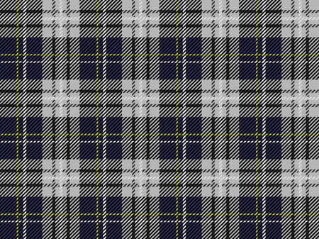 Seamless Tartan plaid, vector illustration. Horizontally and vertically repeatable. Çizim
