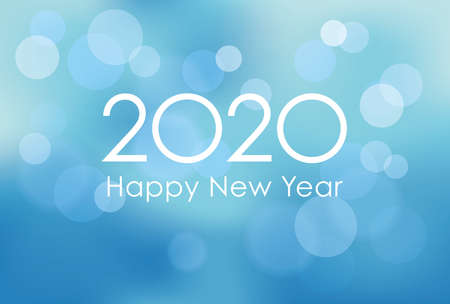 2020 New Year's card template, vector illustration.  イラスト・ベクター素材