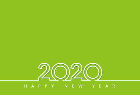 2020 New Year's card template, vector illustration. Illustration