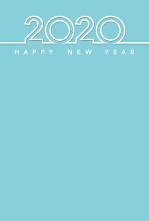 2020 New Year's card template, vector illustration.