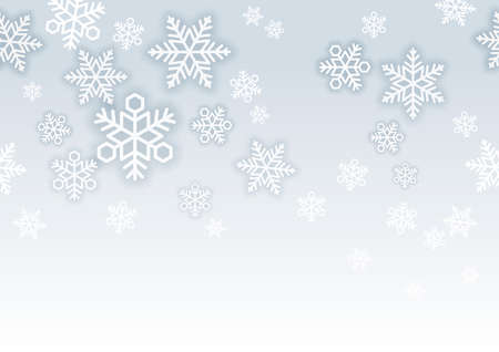 Seamless vector snow background illustration with text space. Horizontally repeatable.
