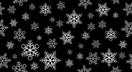 Seamless vector snow background illustration. Horizontally and vertically repeatable. Vektorové ilustrace