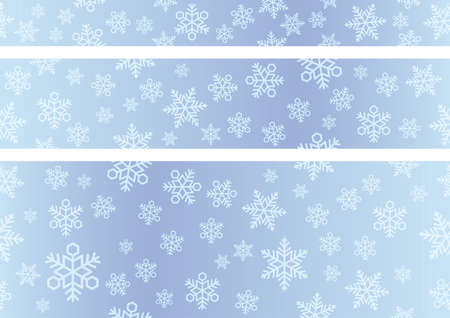 Seamless vector snow background set. Horizontally and vertically repeatable.