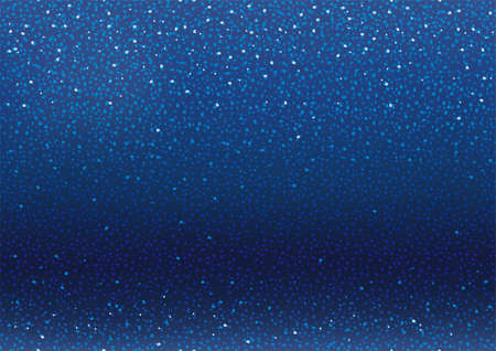 Blue Seamless Vector Abstract Background Illustration With Glitters And Sparkles. Horizontally And Vertically Repeatable.