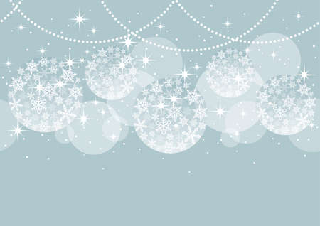 Seamless Abstract Background With Christmas Ball Ornaments On A Gray Background, Vector Illustration. Horizontally Repeatable.