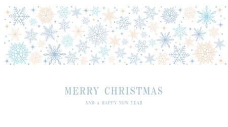 Merry Christmas And Happy New Year Pastel-Colored Abstract Background With Text Space, Vector Illustration.