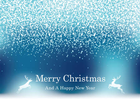 Abstract Blue Vector Christmas Background With Glitter Particles And Text Space.