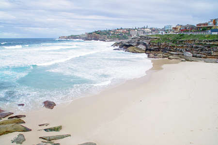 A view of the huge surf on famous Bondi beach neighbour, Tamarama beach, Australia photo