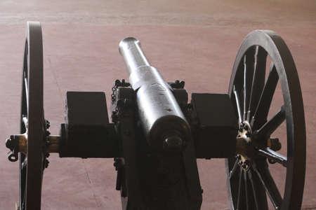 Black color Cannon view Light Artillery Reklamní fotografie