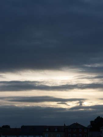 silverline: A silverline and dark blue skyline.