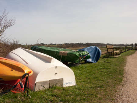 Some upside down boats at the Wivenhoe Sailing Club.