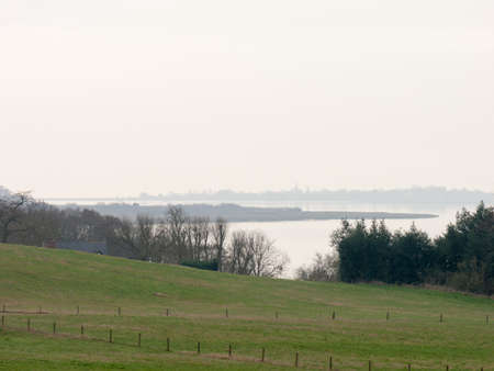 riverside trees: The river colne in all its glory, as seen up top from a field in Wivenhoe.