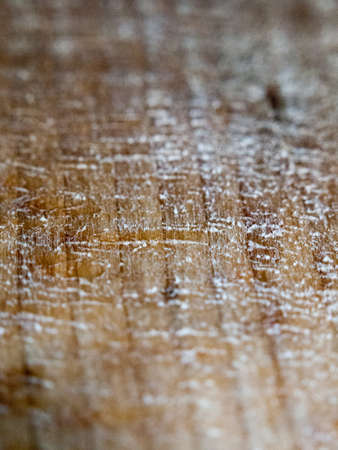 close up texture of icy and dusty used wooden surface