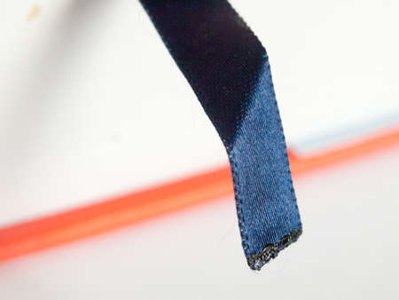 close up texture book mark cloth blue pattern