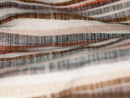 textile image: striped retro styled pattern cloth fabric background; Essex; England; UK