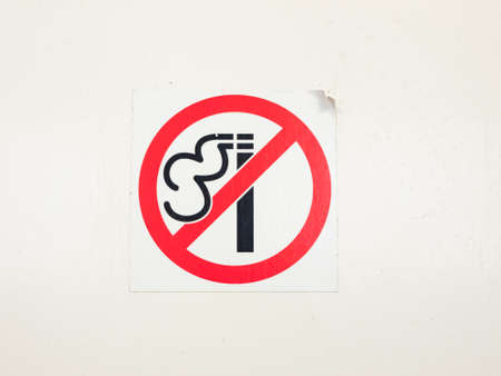 no smoking sign red circle white background; essex; england; UK