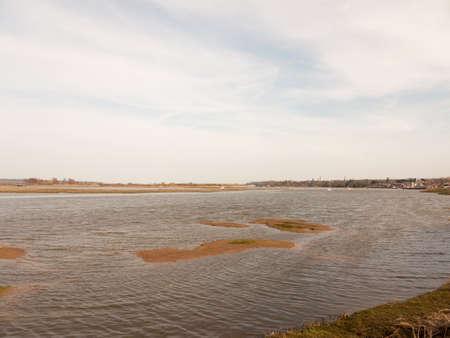 large bay of water manningtree sky blue spring day coast; essex; england; uk Stock Photo