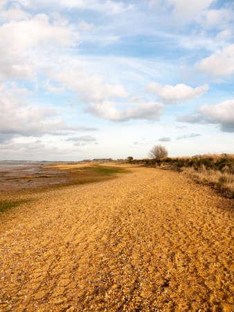Beautiful bay coastal open scenery outside Manningtree, Jacques Bay; Essex; England; UK 版權商用圖片