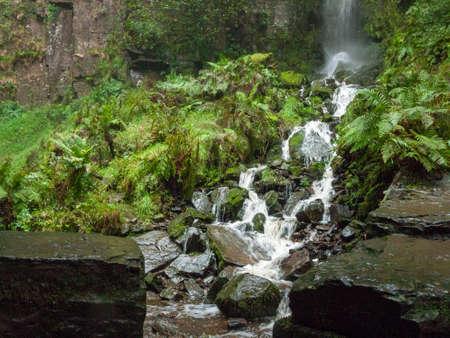 Beautiful South Wales Melincourt Falls Waterfall Rocks Wet - River Neath / Afon Nedd - Wales