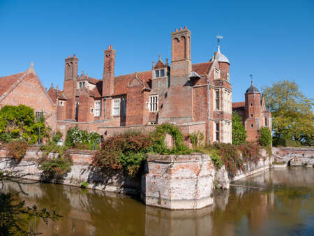 Kentwell Hall Suffolk Tudor Manor special day visit olde romantic historical re-enactment - Suffolk; UK